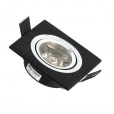 SPOT MR11 Q SUPER LED 1X1W PRETO FOSCO BR MORNA BIVOLT