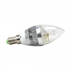 VELA CRISTAL SUPER LED 3W BR MORNA  E14 BICO RETO